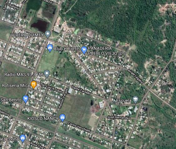 Foto satelital Pueblo Viejo Machagai